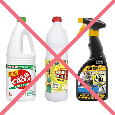 Bannir les produits chimiques ou ammoniaqués