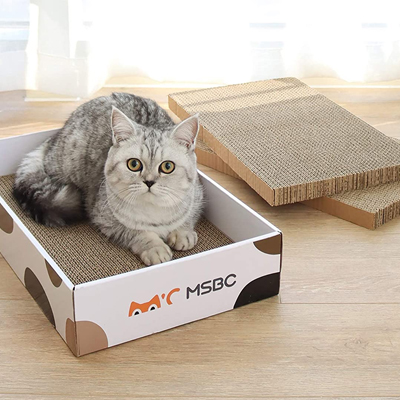 Griffoir plat en carton chat