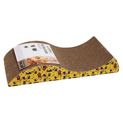 Griffoir ondulé en carton avec des illustrations de souris