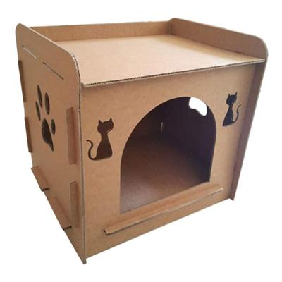 Maison Lit De Chat en Carton Ondulé