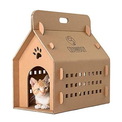 Niche pour chat - Griffoir en carton ondulé